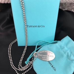 Tiffany dog tag Return to Tiffany necklace